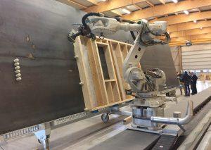 Robotmob assemblage d'ossature bois