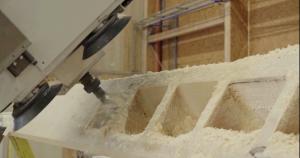 L'usinage d'une Grume par Robotmob