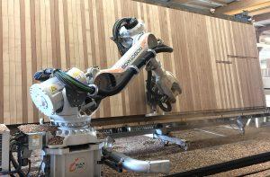 Usinage de CLT Robotmob pour prefabois